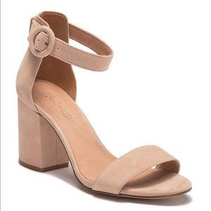 Madewell Regina suede ankle strap heels